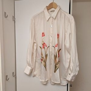 Zara Floral Silky Shirt/BlouseXL